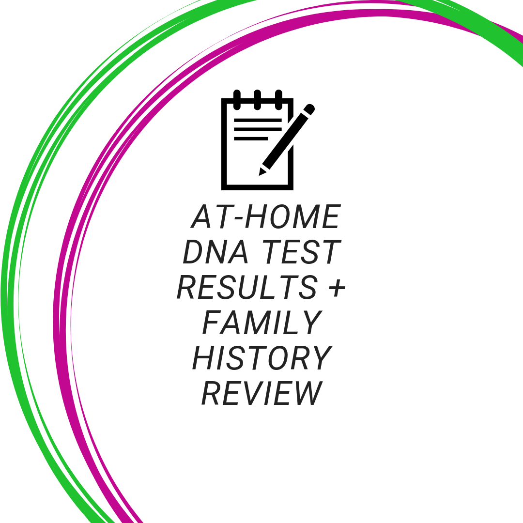 At-Home DNA Test Results + Family History Review