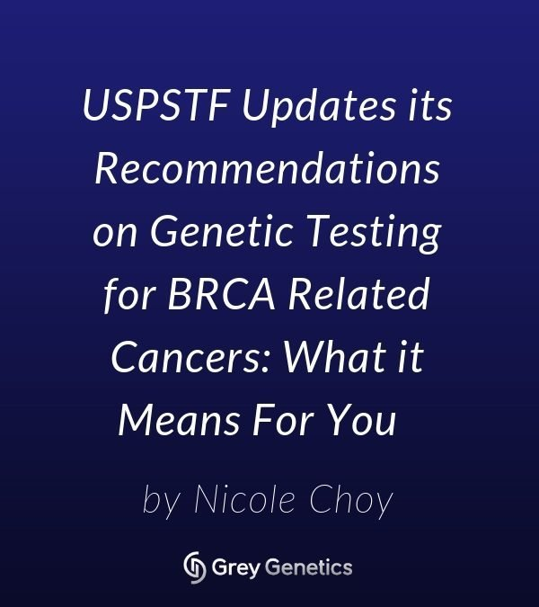 USPSTF Updates its Recommendations on Genetic Testing for BRCA Related Cancers: What it Means For You